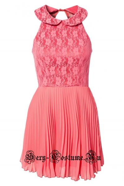 Светло-розовое платье воздушное n21482