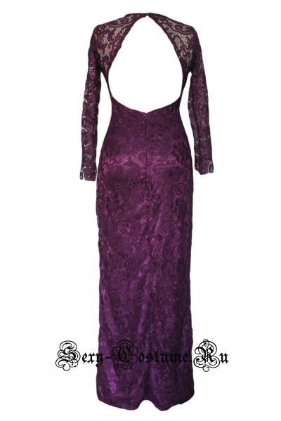 Фиолетовое платье длинное клубное n6008