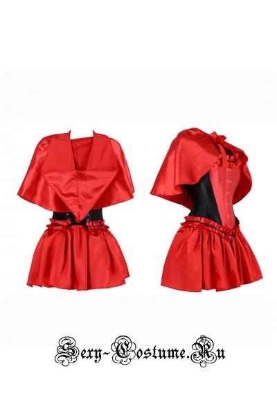 Красная шапочка корсетный костюм корсет красный m9947